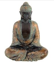 Meditation Buddha With Antique Finish.